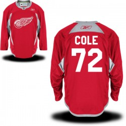 Detroit Red Wings Erik Cole Official Red Reebok Premier Adult Practice Team NHL Hockey Jersey