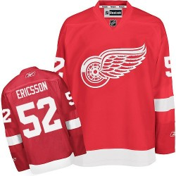 Detroit Red Wings Jonathan Ericsson Official Red Reebok Premier Adult Home NHL Hockey Jersey