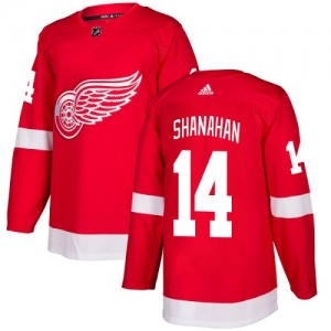 Detroit Red Wings Brendan Shanahan Official Red Adidas Authentic Youth Home NHL Hockey Jersey
