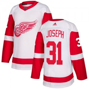 Detroit Red Wings Curtis Joseph Official White Adidas Authentic Youth Away NHL Hockey Jersey